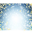 blue shining background with stars vector image vector image