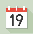 calendar and number icon set flat design vector image vector image