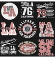 California T-shirt fashion Typography vector image vector image