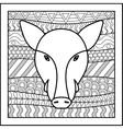 Chinese zodiac sign Boar vector image vector image