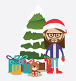 Christmas design over white background vector image