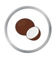 Coconut icon cartoon Singe fruit icon vector image vector image