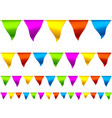 colorful bunting flags vector image vector image