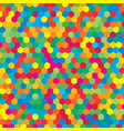 colorful random hexagon mosaic or tiles background vector image vector image