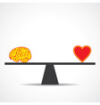 Compare mind with heart vector image