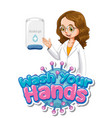 coronavirus poster design for wash your hands vector image