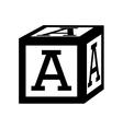 Cubes blocks alphabet icon