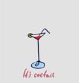 drink cartoon vector image