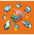 E-learning icons isometric vector image vector image