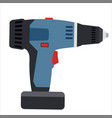 electric screwdriver tool vector image