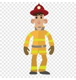 Firefighter cartoon character vector image