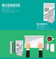 flat backgrounds set for business vector image