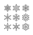 Flat snowflakes set vector image vector image