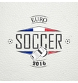 Football Championship of France Soccer time vector image vector image