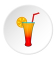 Fruit cocktail icon cartoon style vector image vector image
