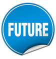 future round blue sticker isolated on white vector image vector image