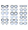 glasses silhouette various eyeglasses frames vector image