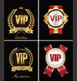 golden vip invitation retro template on black vector image