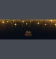 happy diwali golden sparkle and glitter banner vector image vector image