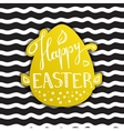 Happy Easter greeting sign in trendy gold vector image vector image