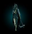 hel goddess underworld in norse mythology vector image