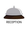 Hotel bell icon vector image vector image