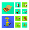 isolated object accessories and harm sign set vector image vector image
