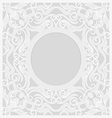 lace background round vignette vector image vector image