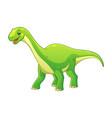 little diplodocus cartoon vector image vector image