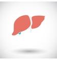 Liver icon vector image vector image
