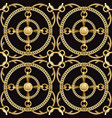 luxury golden chains and ribbons seamless pattern vector image vector image