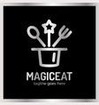 magic eat logo vector image