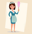maid cute smiling girl dressed in classic french vector image