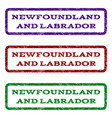 newfoundland and labrador watermark stamp vector image vector image
