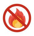 no fire sigh vector image vector image