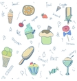pattern of ice-creams and ice-lolly vector image