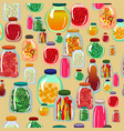 pickles seamless pattern vector image vector image