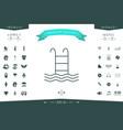 pool icon symbol vector image
