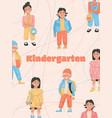 poster kindergarten concept vector image