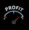 profit meter vector image vector image