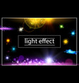 realistic light effects concept vector image