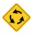 roundabout crossroad traffic sign vector image vector image