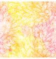 seamless floral grunge orange and pink pattern vector image vector image