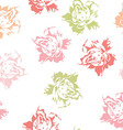 seamless floral pattern white pastel roses vector image