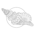 Seashell coloring book vector image vector image