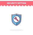 security setting icon fill and line flat vector image vector image