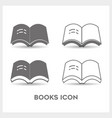 set book black and white color vector image