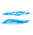 set waves in side view vector image vector image