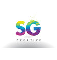 sg s g colorful letter origami triangles design vector image vector image