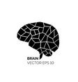 silhouette brain vector image vector image